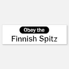 Obey the Finnish Spitz Bumper Bumper Bumper Sticker