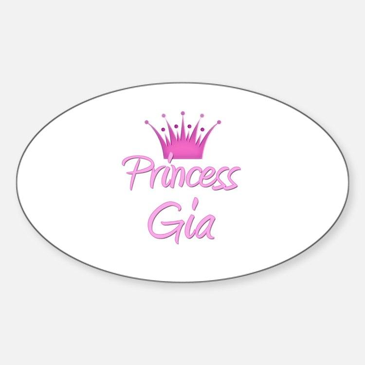 Princess Gia Oval Decal