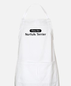 Obey the Norfolk Terrier BBQ Apron