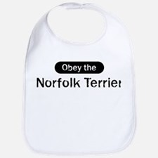 Obey the Norfolk Terrier Bib