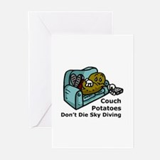 Couch Potato Sky Diving Greeting Cards (Pk of 10)