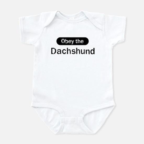 Obey the Dachshund Infant Bodysuit