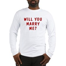 Script Will You Marry Me Long Sleeve T-Shirt