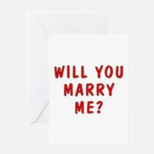 Script Will You Marry Me Greeting Card