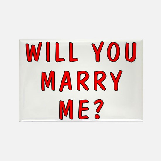 Script Will You Marry Me Rectangle Magnet