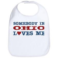 Somebody in Ohio Loves Me Bib