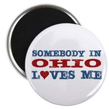 "Somebody in Ohio Loves Me 2.25"" Magnet (10 pack)"
