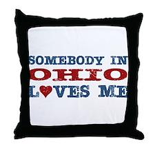 Somebody in Ohio Loves Me Throw Pillow