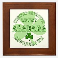 Lucky Alabama Leprechaun Framed Tile