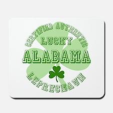 Lucky Alabama Leprechaun Mousepad