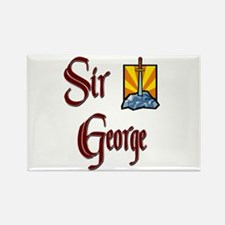 Sir George Rectangle Magnet