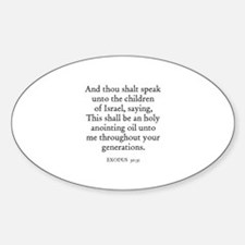 EXODUS 30:31 Oval Decal