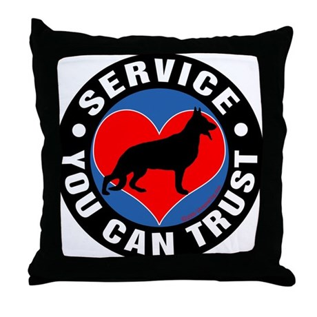 A German Shepherd's Heart Throw Pillow