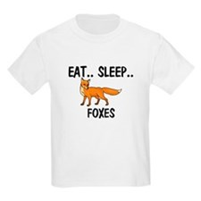 Eat ... Sleep ... FOXES Kids Light T-Shirt