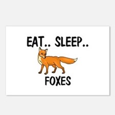 Eat ... Sleep ... FOXES Postcards (Package of 8)