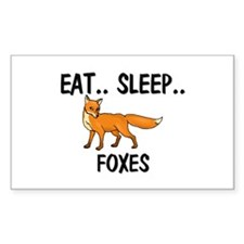 Eat ... Sleep ... FOXES Rectangle Sticker