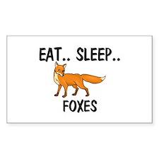 Eat ... Sleep ... FOXES Rectangle Decal