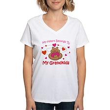 Heart Belongs To Grandkids Shirt