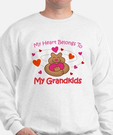 Heart Belongs To Grandkids Sweatshirt