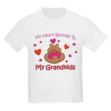 Heart Belongs To Grandkids T-Shirt