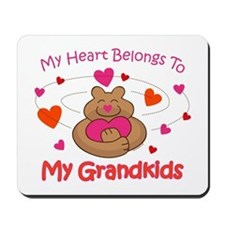 Heart Belongs To Grandkids Mousepad