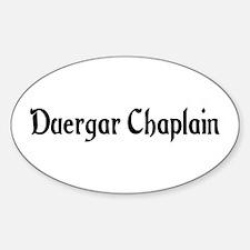 Duergar Chaplain Oval Decal