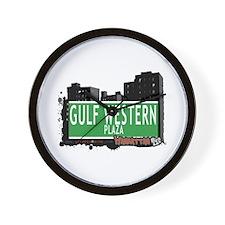 GULF WESTERN PLAZA, MANHATTAN, NYC Wall Clock