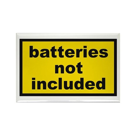 Batteries Not Included Rectangle Magnet (10 pack)