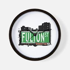 FULTON STREET, MANHATTAN, NYC Wall Clock