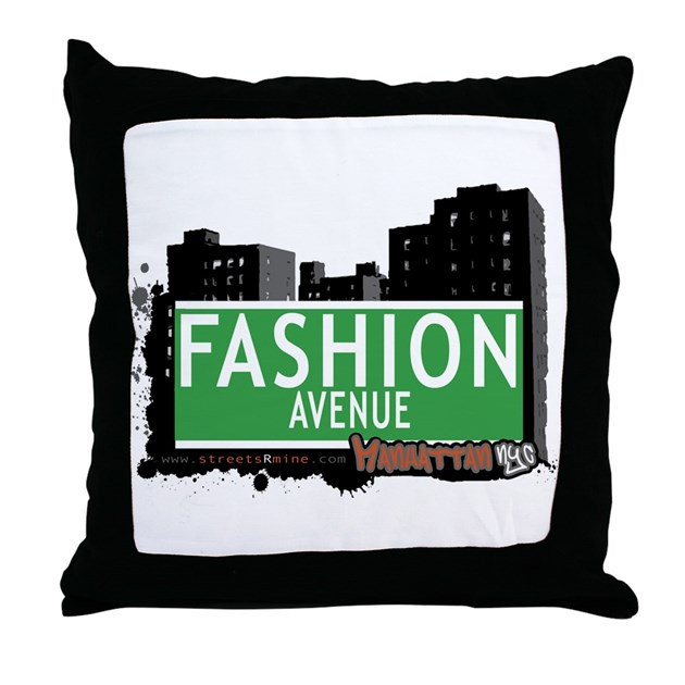 FASHION AVENUE, MANHATTAN, NYC Throw Pillow by empirecommittee