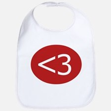 Less Than Three Heart Bib