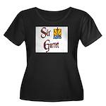 Sir Garret Women's Plus Size Scoop Neck Dark T-Shi