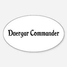 Duergar Commander Oval Decal