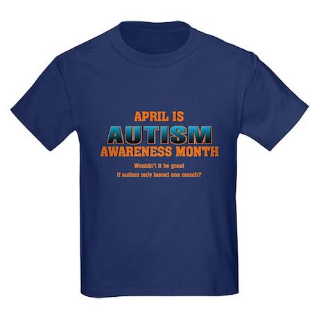 Autism Awareness Month Kids Dark T-Shirt