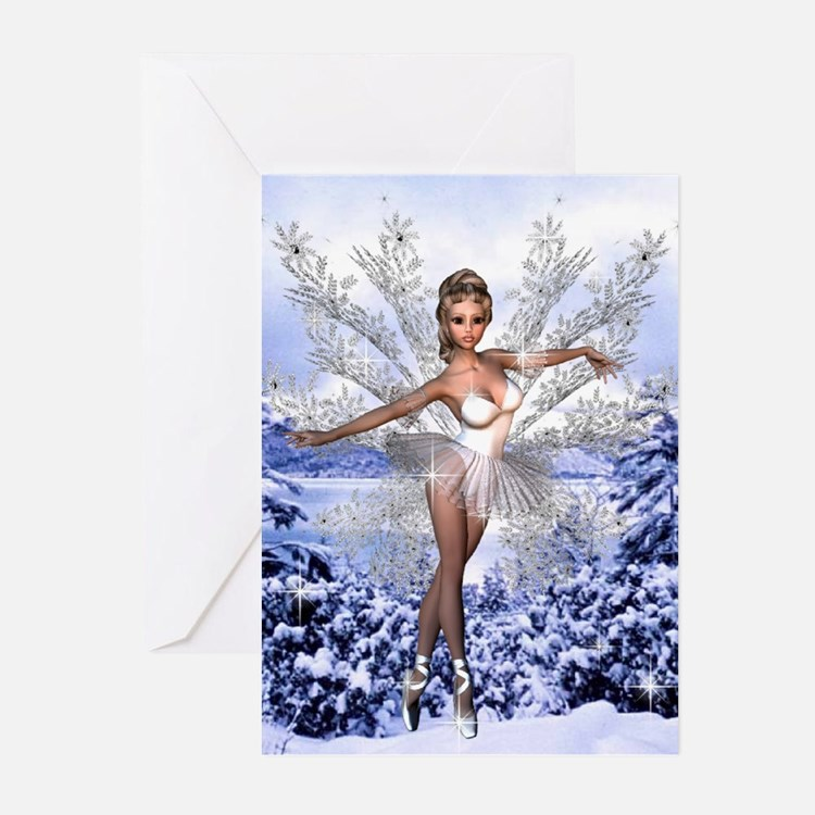 Snowflake Fairy Greeting Cards (Pk of 10)