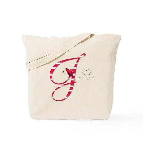 Monogrammed( J) Tote Bag
