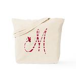 Monogrammed( M) Tote Bag