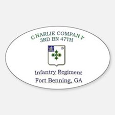 CCO 3RD 47TH Oval Decal