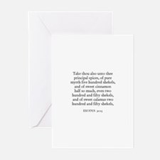 EXODUS  30:23 Greeting Cards (Pk of 10)