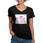 Princess Gail Women's V-Neck Dark T-Shirt