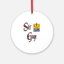 Sir Gage Ornament (Round)