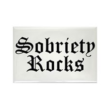 Sobriety Rocks Rectangle Magnet