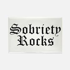 Sobriety Rocks Rectangle Magnet