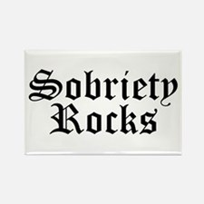 Sobriety Rocks Rectangle Magnet (10 pack)