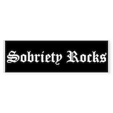 Sobriety Rocks Bumper Bumper Sticker