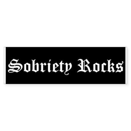 Sobriety Rocks Bumper Sticker