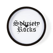 Sobriety Rocks Wall Clock