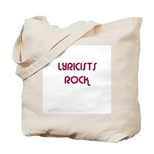 LYRICISTS  ROCK Tote Bag