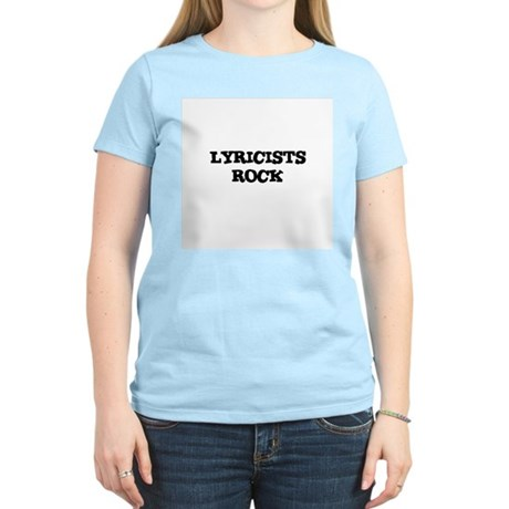 LYRICISTS ROCK Women's Pink T-Shirt