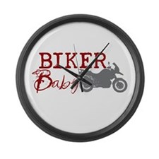 Biker Baby Large Wall Clock